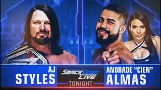 WWE Smackdown 9/18/18 Aj Styles Vs Almas Match Card