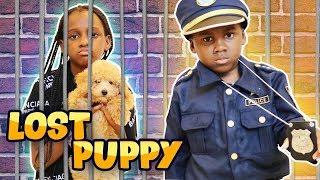 Police Kid SideWalk Patrol  Helps Find Lost Puppy