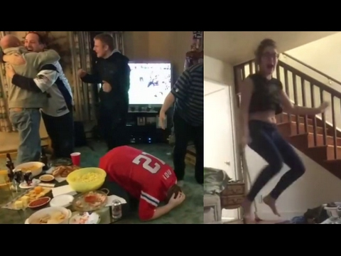 Best Fan Reactions to Patriots' historic comeback overtime win in Super Bowl 51! (Funny)