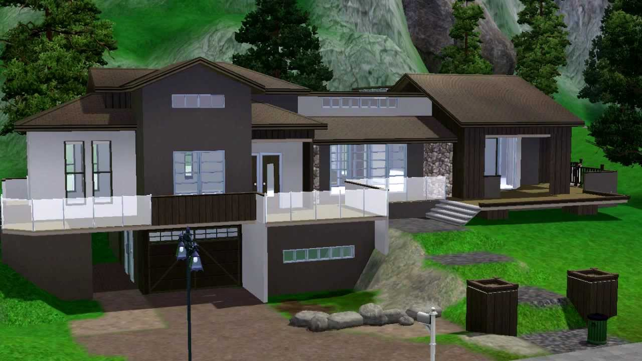 Sims 3 house sentinal youtube for Classic house sims 3