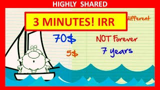 3 Minutes! Internal Rate of Return IRR Explained with Internal Rate of Return Example