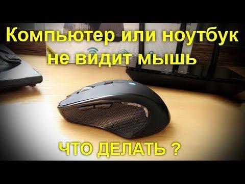 Компьютер или ноутбук не видит мышь . Что делать ?