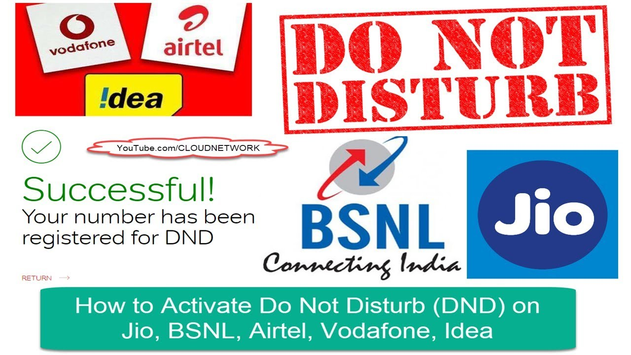 How to Activate Do Not Disturb (DND) on Jio, BSNL, Airtel, Vodafone, Idea &  Major Indian Networks