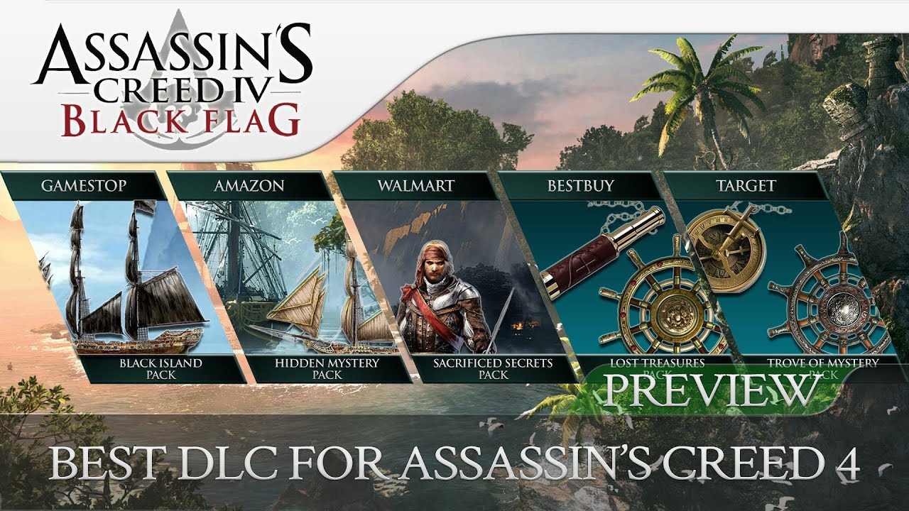 Assassin's Creed 4 Black Flag | 5 Pre-Order DLC's Preview ...