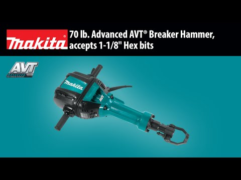 MAKITA 70 lb. Advanced AVT® Breaker Hammer (HM1812X3)
