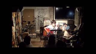 16年7月17日(日)広島、フォーク喫茶「置時計」にて♪ 白いギターと置時計...