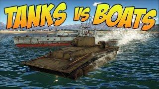 Tanks vs Boats - War Thunder Gameplay
