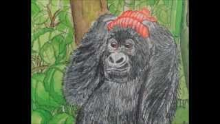 世界で初めて!アフリカ・コンゴの画家が描いた「ゴリラ語の絵本」 『ゴ...