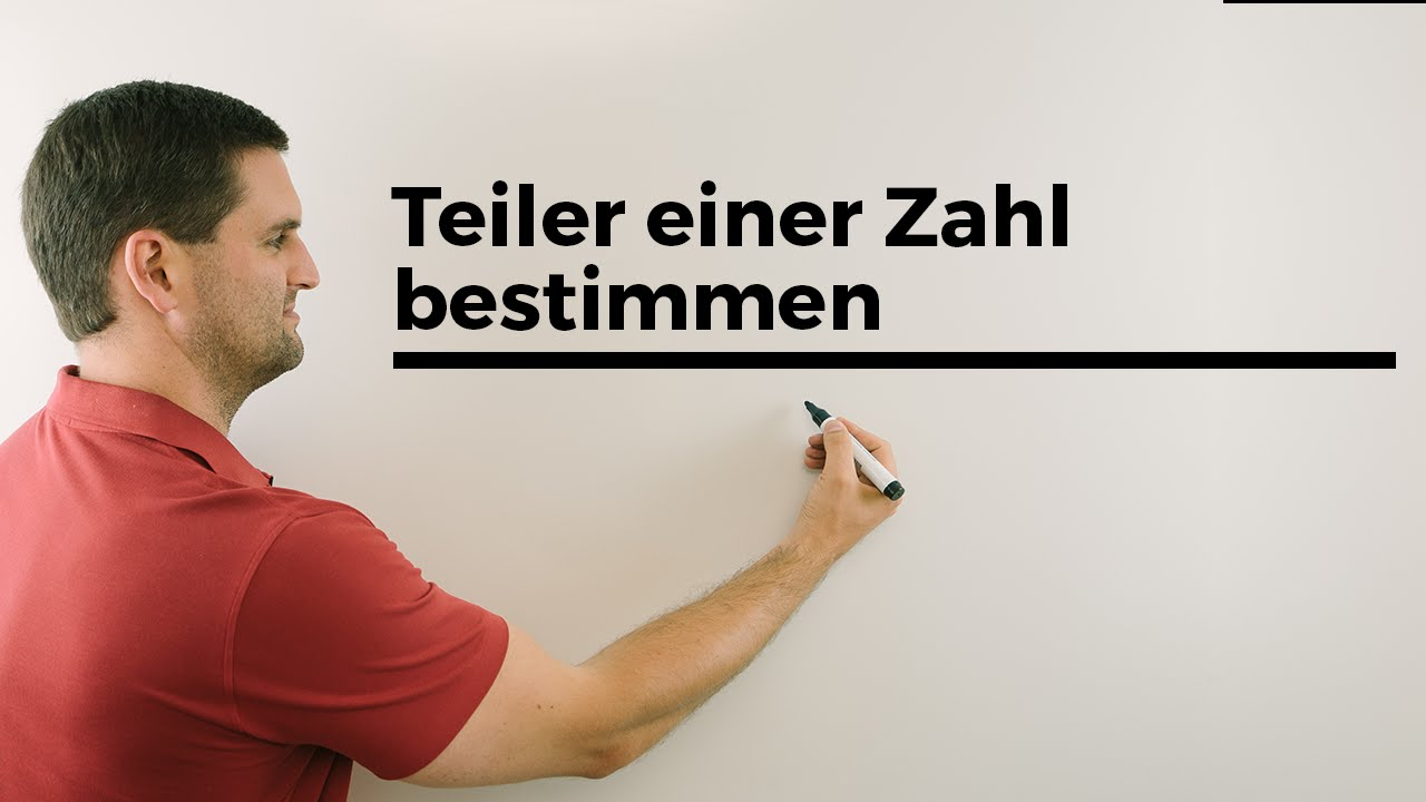 teiler einer zahl bestimmen hilfe in mathe nachhilfe online mathe by daniel jung youtube. Black Bedroom Furniture Sets. Home Design Ideas