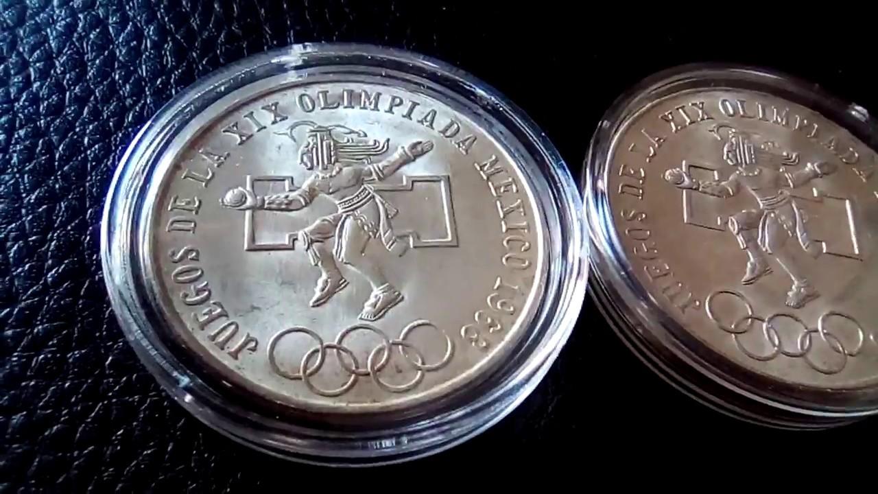 Moneda Olimpica 25 Pesos Plata 0 720 Youtube