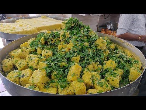 Rasawala Khaman Dhokla | Speciality of Gujarat | Indian Street Food