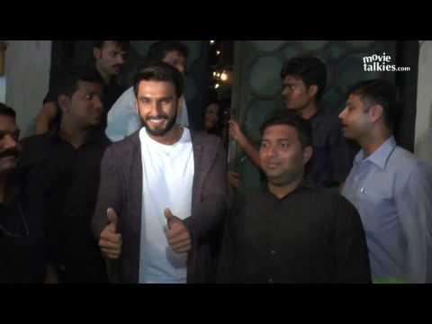 Ranveer Singh & Girlfriend Deepika Padukone leave TOGETHER From A Bollywood Party
