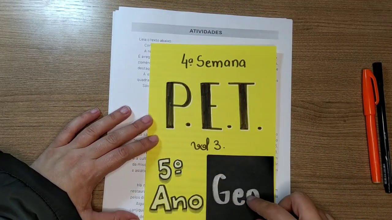 Download CORREÇÃO PET volume 3 - 4ª Semana - 5º Ano - Geografia