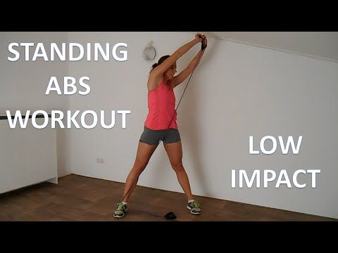 Standing Ab Workout For Beginners – 10 Minute Low Impact Abs Workout Without Crunches