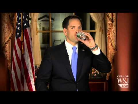 Marco Rubio Fail: Senator Lunges for Poland Spring
