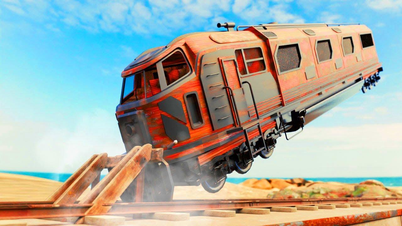 Lego Train Accident - Train Brake Fail - Lego Treasure Hunt - Choo choo train kids videos