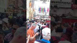 Car Plows Into Pedestrians on Times Square
