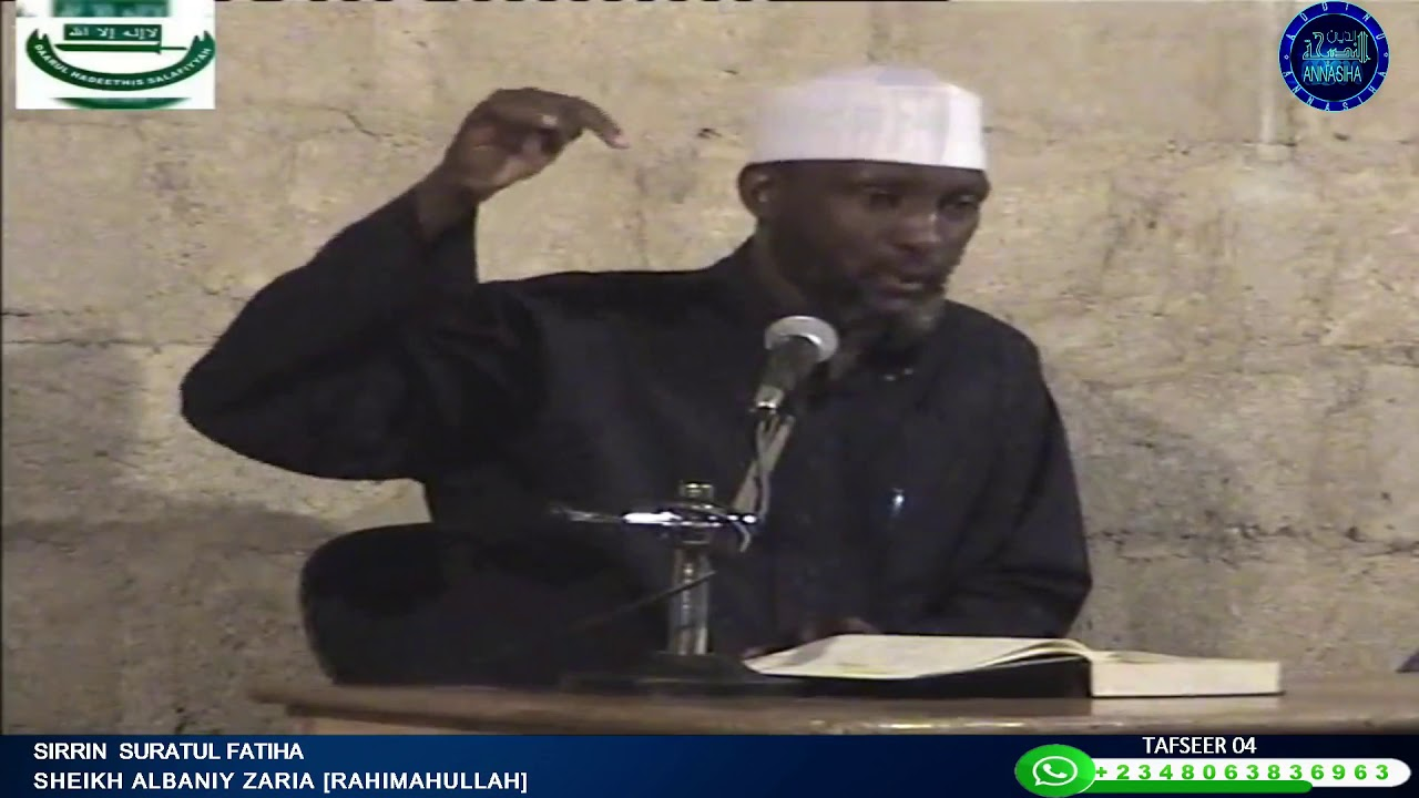 Download Sirrin Suratul Fatiha: Sheikh Albaniy Zaria Rahimahullah
