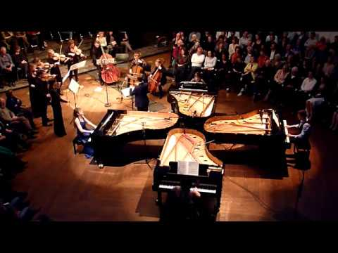LIVE [HD] Bach concerto for 4 Pianos  in a minor BWV 1065 by Rondane Kwartet