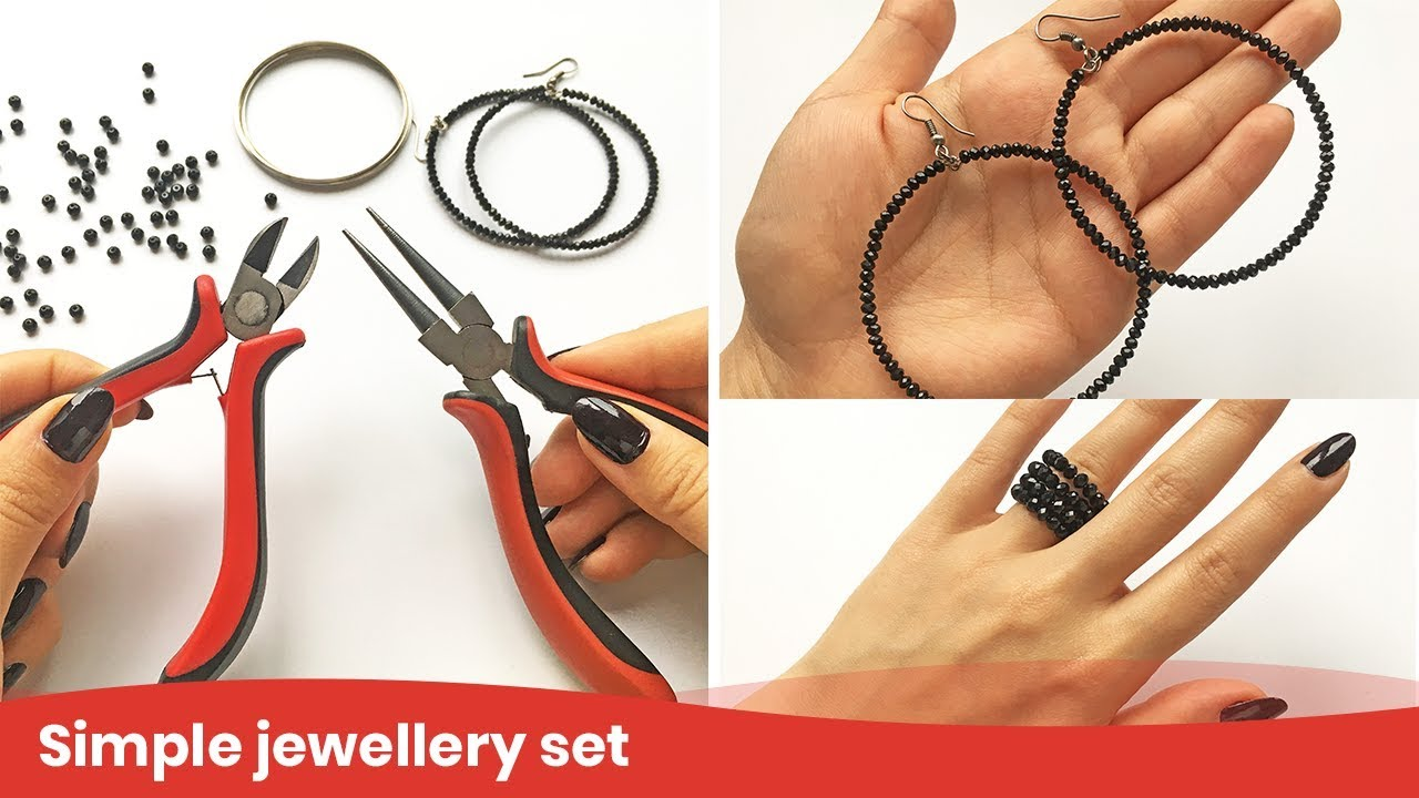 Wire Ring Tutorial. Jewelry Set from Memory Wire and Beads. DIY ...