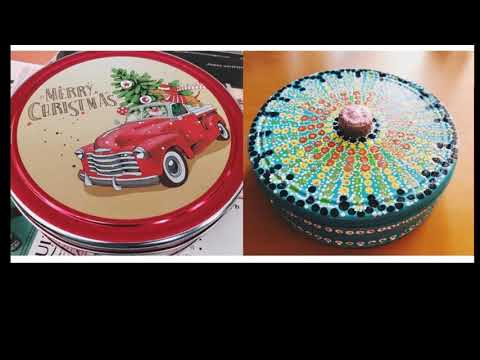 AWESOME WAY TO DECORATE COOKIE TIN FOR STORAGE | RECYCLING TIN BOX| DIY CRAFT IDEAS | LOCK-DOWN FUN