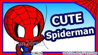 Spiderman - How to Draw Superheroes Marvel Characters - Fun2draw Art Lessons