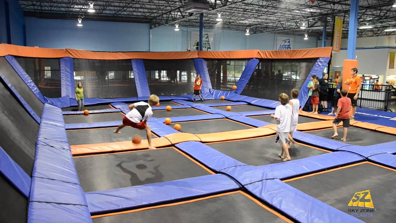 Sky Zone Roswell - Dodgeball Put Your Game Face On - Roswell Georgia - YouTube
