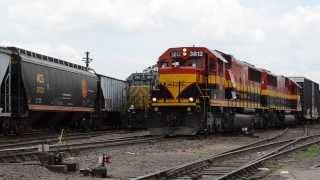 KCSM Mancuerna de SD60´s la 3812 y 3800 en Empalme Escobedo, Guanajuato. México NOAS_5