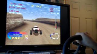 4 Wheel Thunder (Dreamcast) with 270 Degree Wheel on NullDC