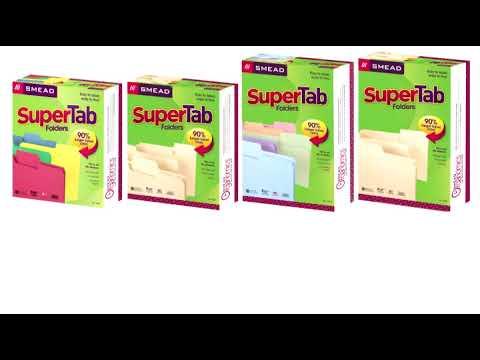 Smead SuperTab File Folder, Oversized 1/3-Cut Tab, Legal Size, Manila, 100 Per Box (15301) Reviews