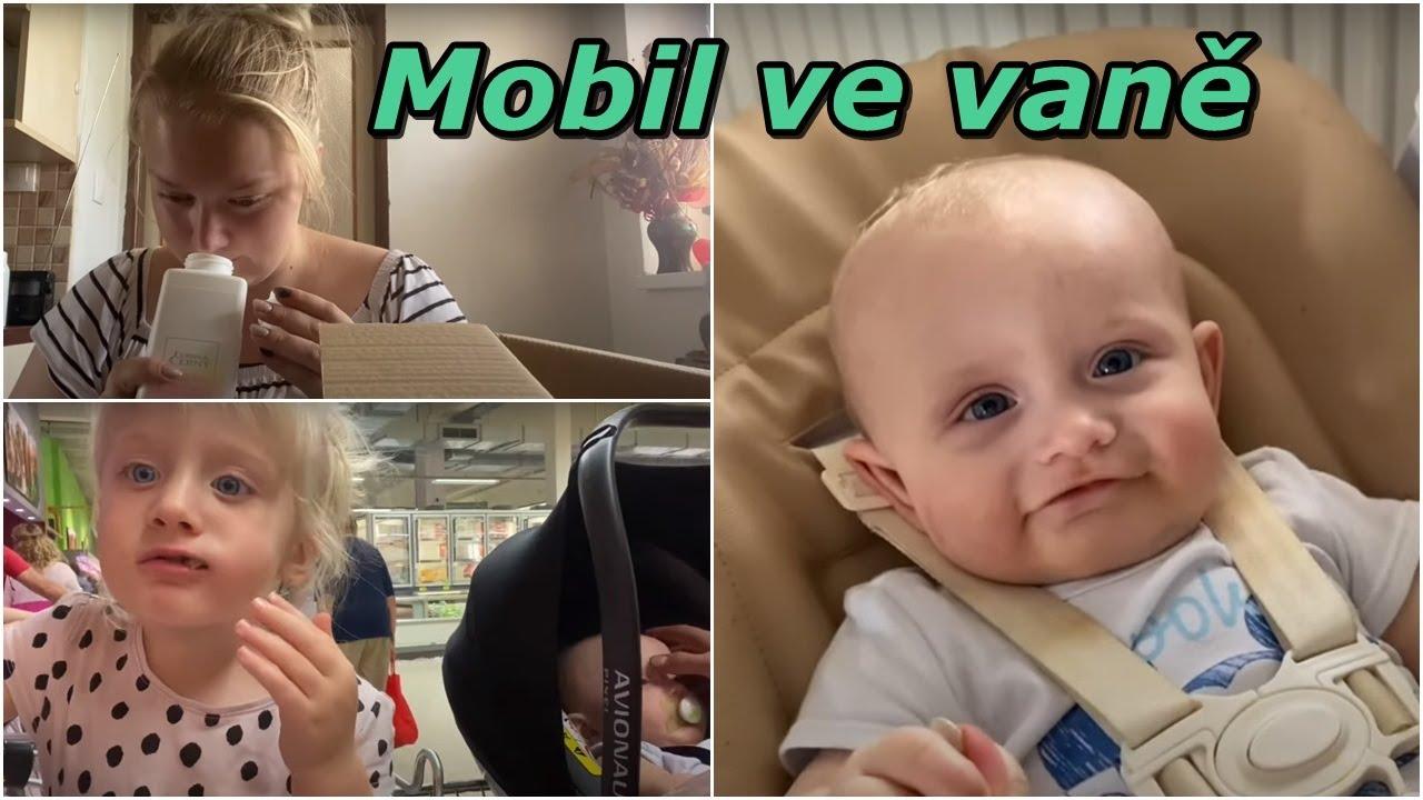 Mobil ve vaně | MamaVlog