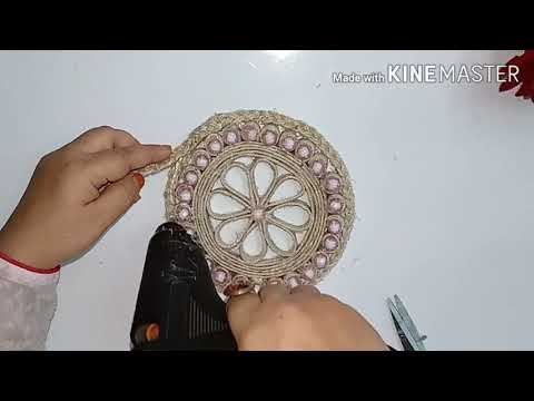 DIY Jewellery Box with Jute/ How to make a Storage Box/ Golden Fiber Crafts
