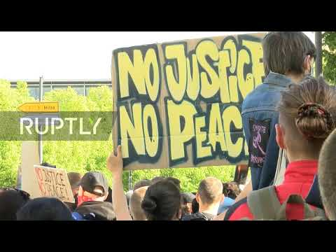 "Germany: Thousands protest Floyd killing outside Berlin""s US embassy"