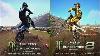 Supercross The Game 2 VS Supercross The Game 1 | Comparison Dean Wilson