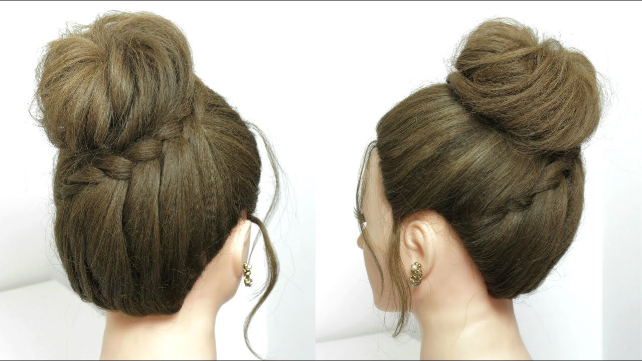 Easy Messy Bun. Wedding Updos. Hair Up Tutorial - YouTube