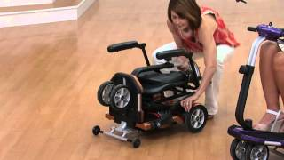 EV Rider Folding Mobility Scooter with Arm Rests with Jennifer Coffey
