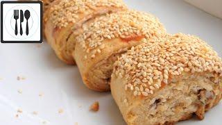 Очень вкусное ПЕСОЧНОЕ ПЕЧЕНЬЕ - Рулетики с орехами и кунжутом/ Tahinli susamli rulo kurabiye