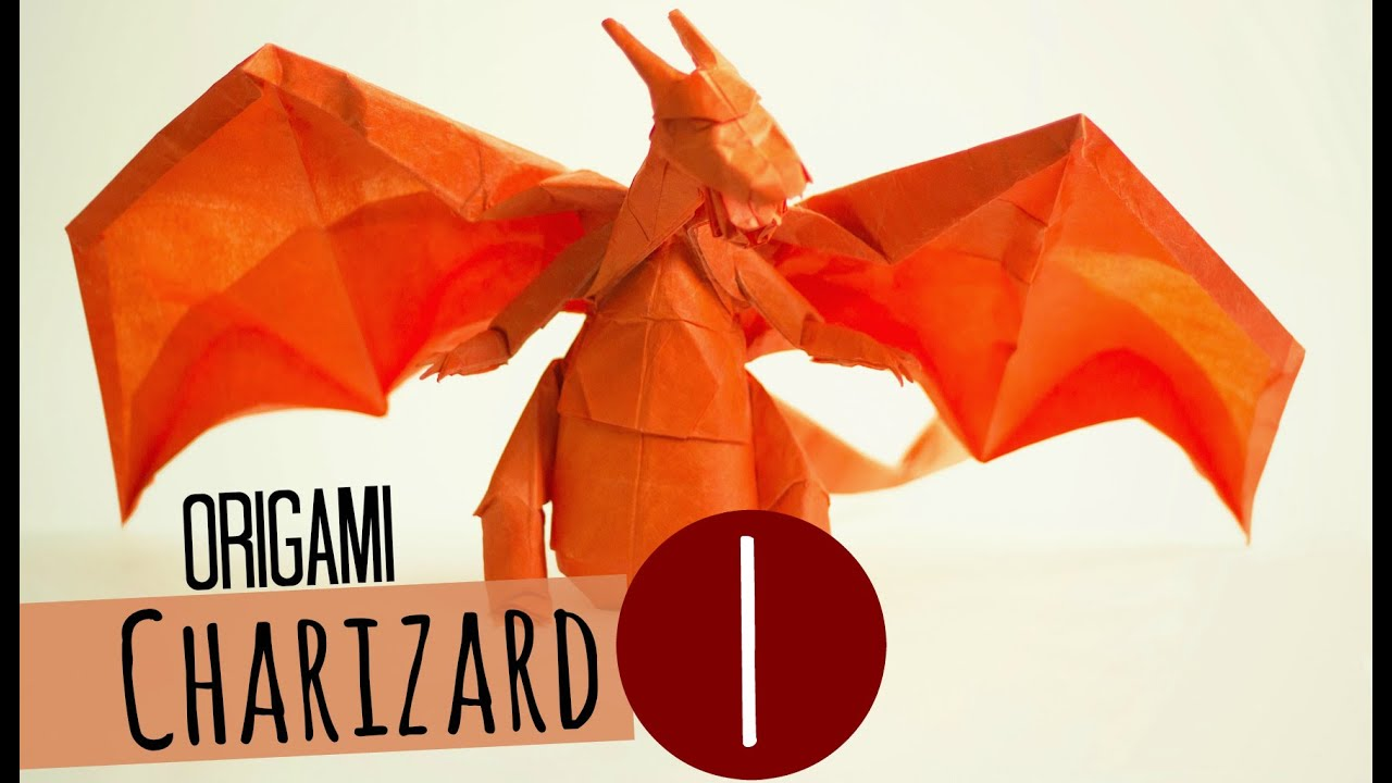 how to make an origami charizard tadashi mori part 1 ���