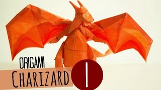 How to make an Origami Charizard (Tadashi Mori) Part 1 折り紙 リザードン