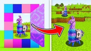 Minecraft : How To MAKE A PORTAL TO THE FORTNITE LLAMA DIMENSION (Ps3/Xbox360/PS4/XboxOne/PE/MCPE)