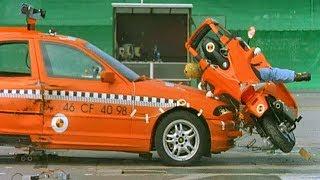 Car vs Scooter CRASH Test