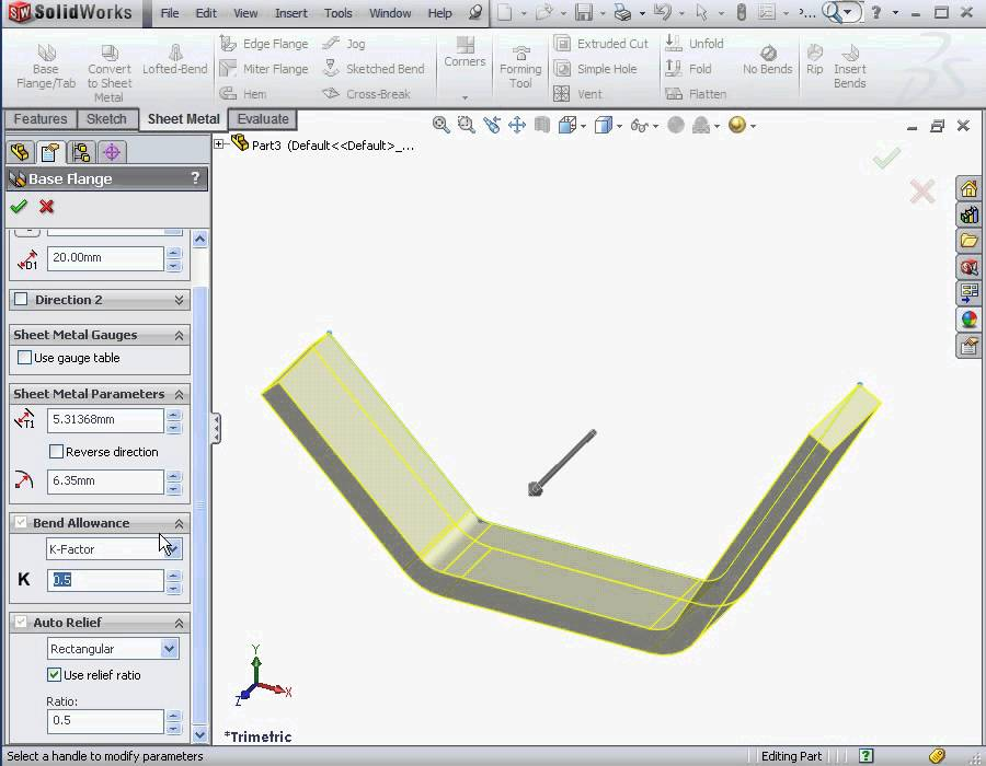 Solidworks Tutorial Sheet Metal 2012 How To Build A