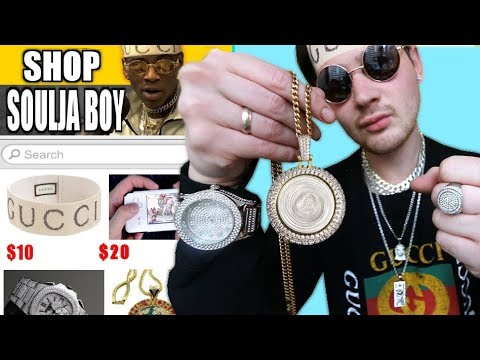 ac4996cce I Bought THE CHEAPEST Soulja Boy Rapper Chains And Merch!!! IS IT WORTH IT