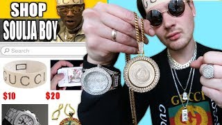I Bought THE CHEAPEST Soulja Boy Rapper Chains And Merch!!! IS IT WORTH IT?