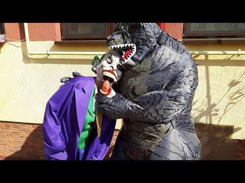 Joker vs Godzilla Superheroes in Real Life