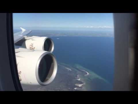 A380 Emirates take off from Copenhagen to Dubai