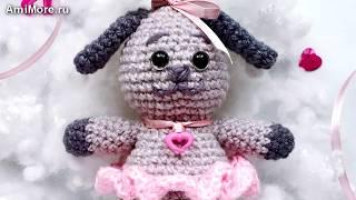 Амигуруми: схема Собачка Валентина. Игрушки вязаные крючком - Free crochet patterns.