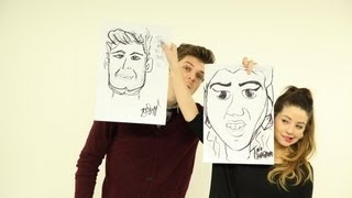 CARICATURE ART: CHALLENGE JIM WITH ZOELLA