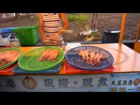 boiled healthy squid in Taiwan