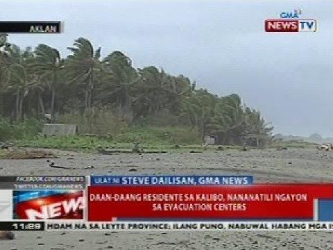 NTL: Daan-daang residente sa Kalibo, Aklan, nananatili ngayon sa evacuation centers